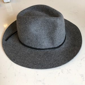 Brixton Women's Grey Wool Fedora